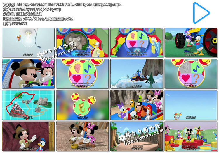 米奇妙妙屋中文版65集+英文版102集Mickey Mouse Clubhouse1-5季高清下载